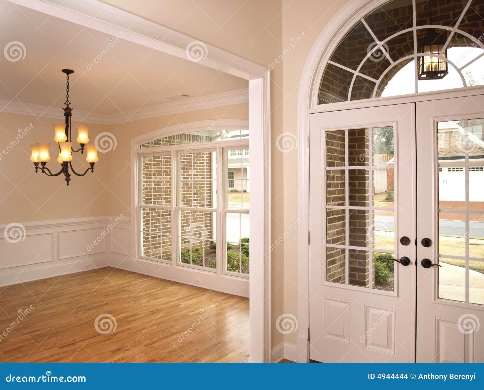 Luxury Glass Door : Luxury foyer with arched glass door stock images image