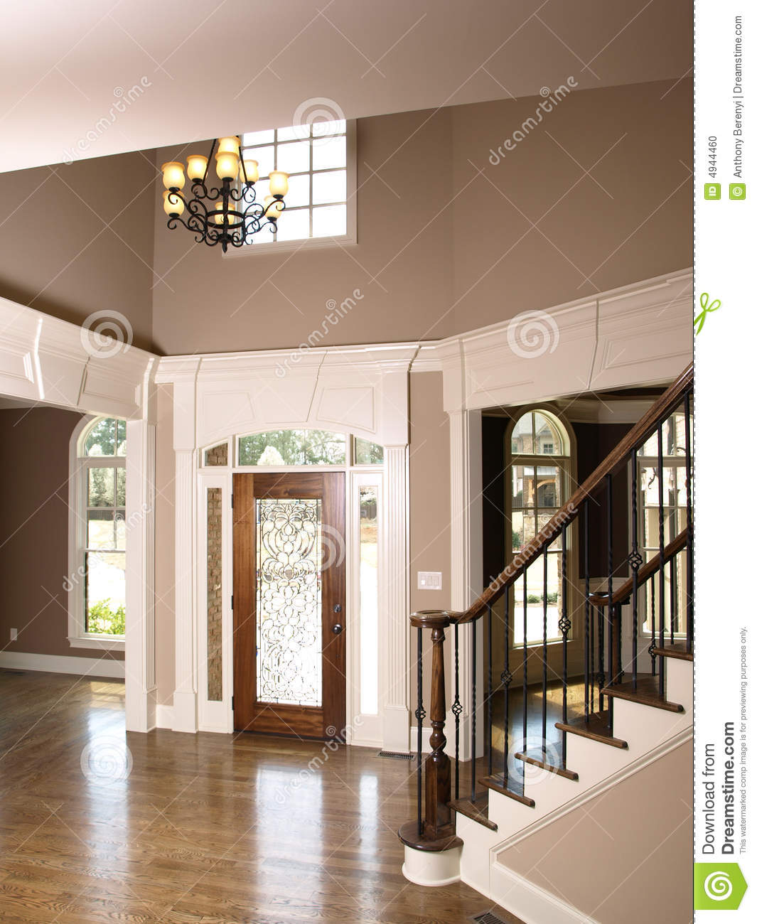 Foyer Clipart : Luxury home interior foyer stained glass door royalty free
