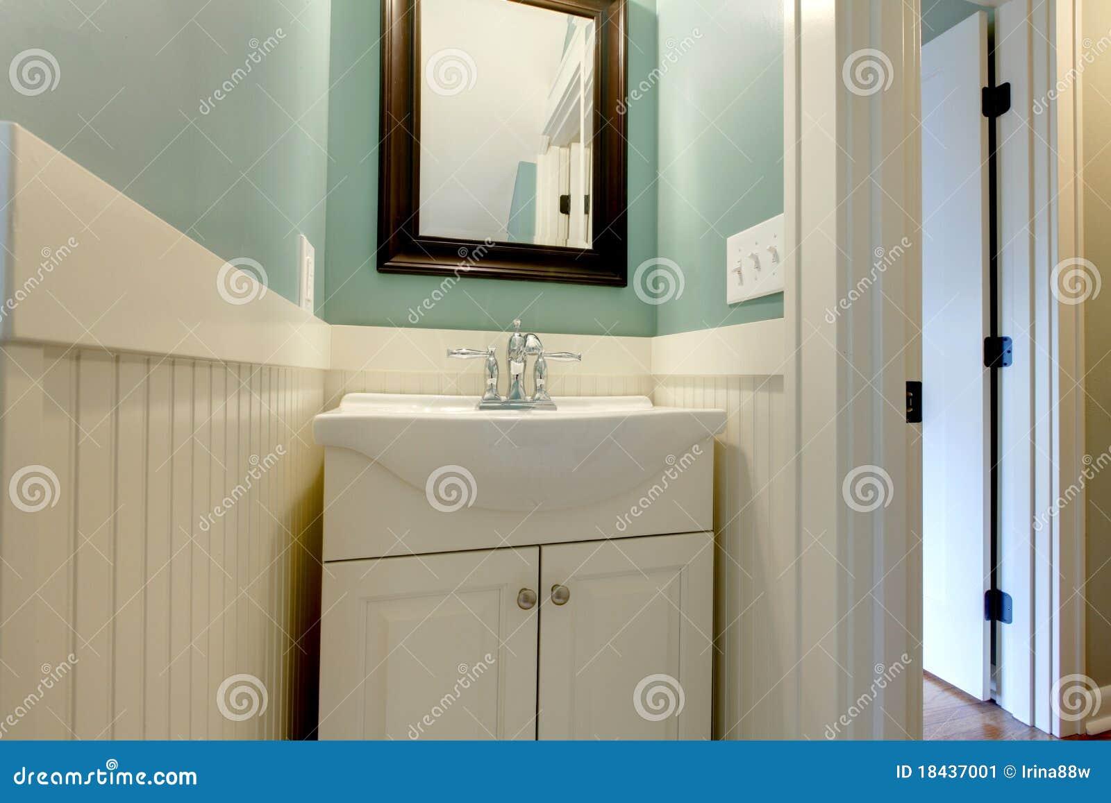 Luxury fresh green blue white bathroom sink stock image for Bathroom remodeling tacoma wa