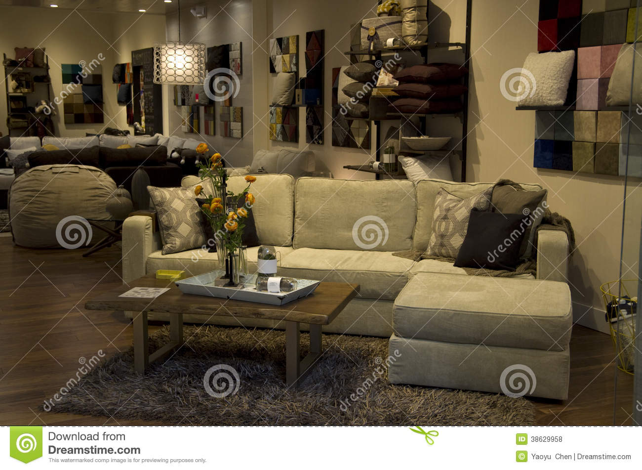 Luxury furniture store interiors royalty free stock photos for Furniture warehouse seattle
