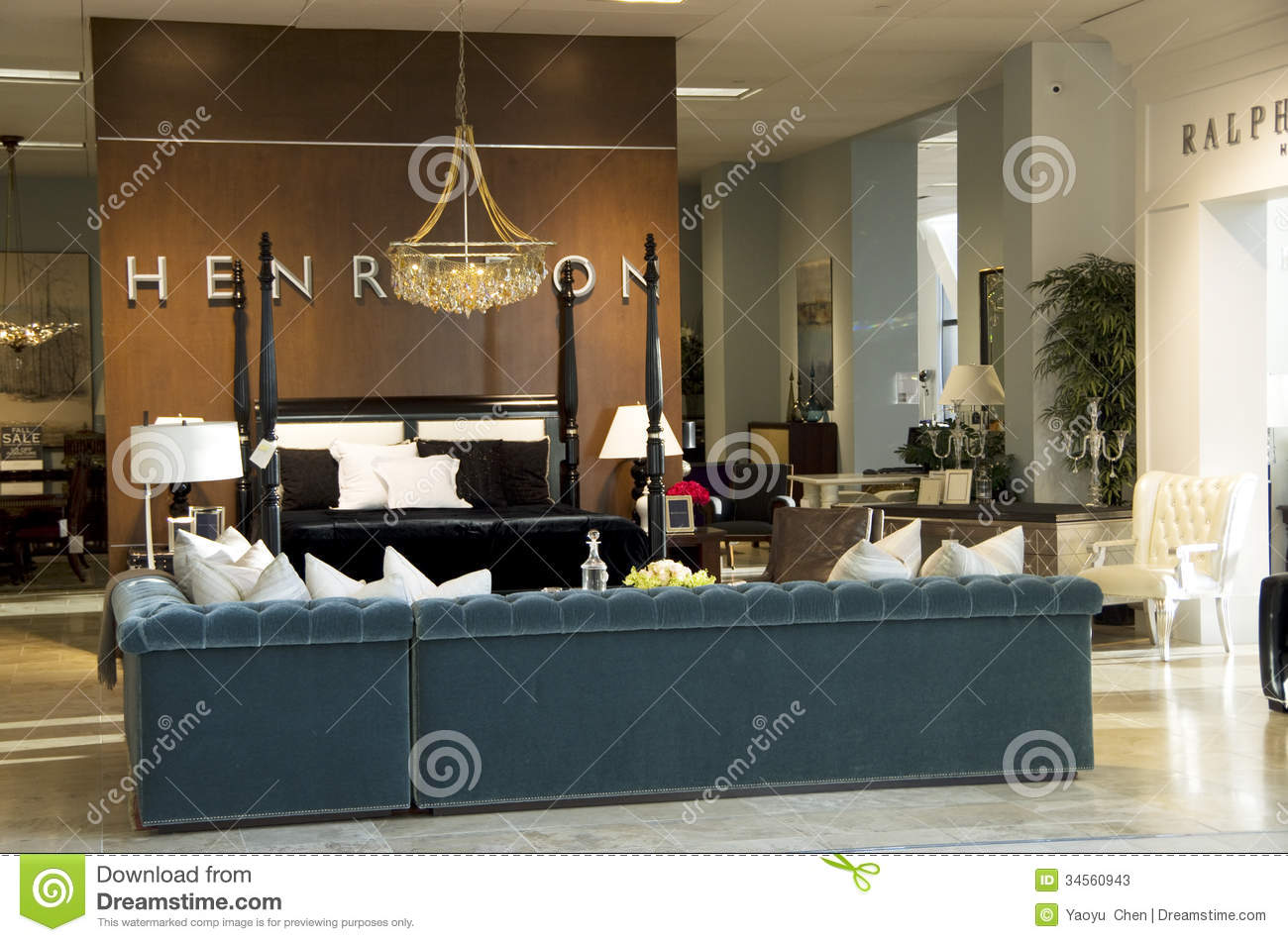 Luxury Furniture Store Editorial Stock Photo Image Of Design 34560943