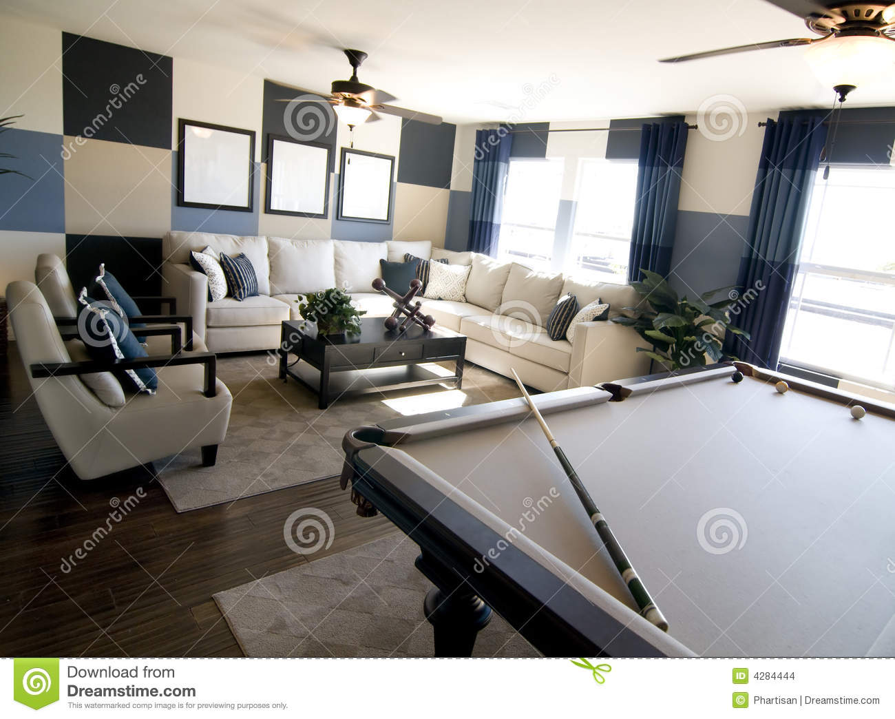 Luxury Game Room Interior Design Stock Photo - Image of decorate ...