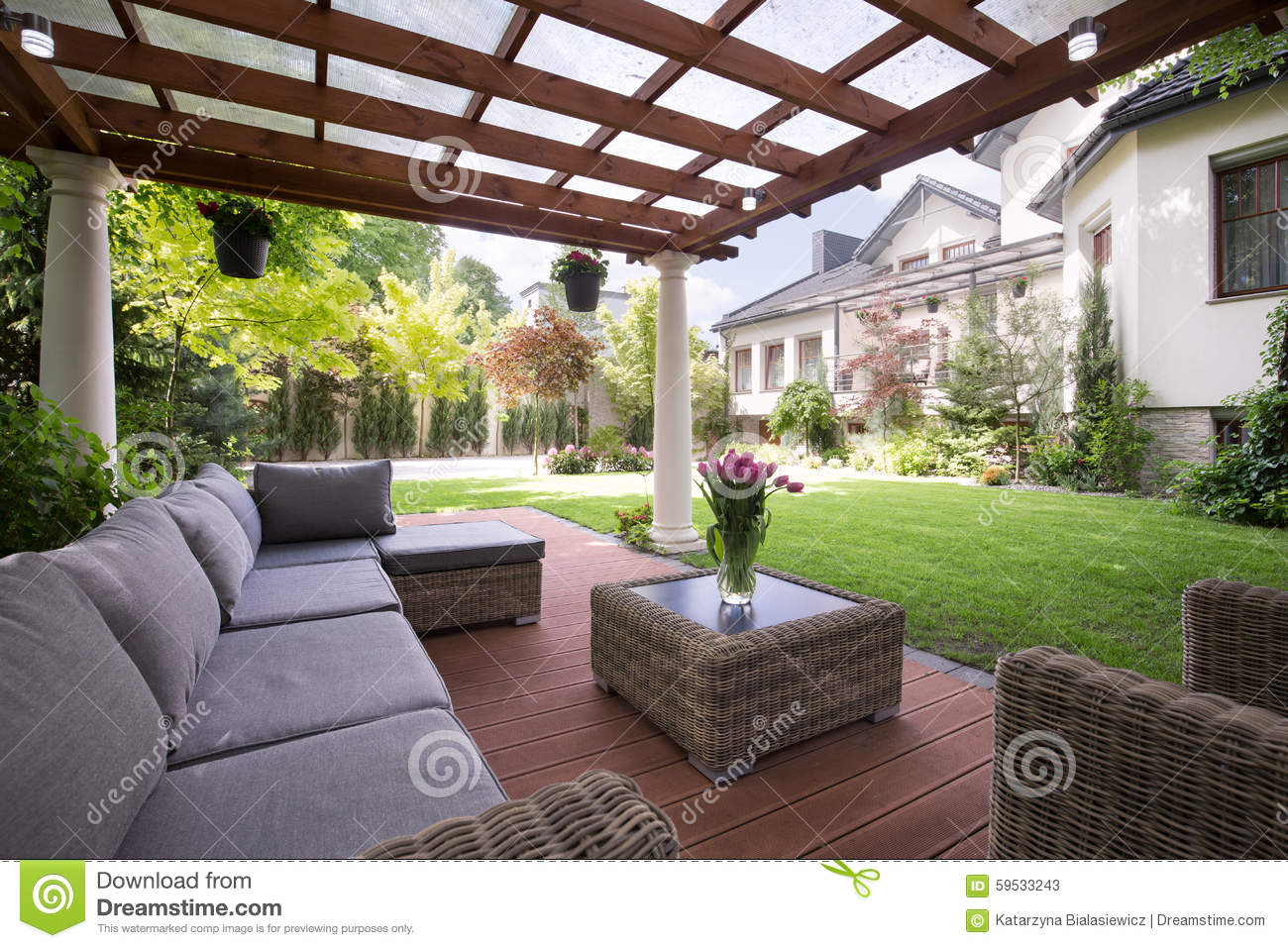 Luxury garden furniture stock photo image 59533243 for Luxury garden furniture