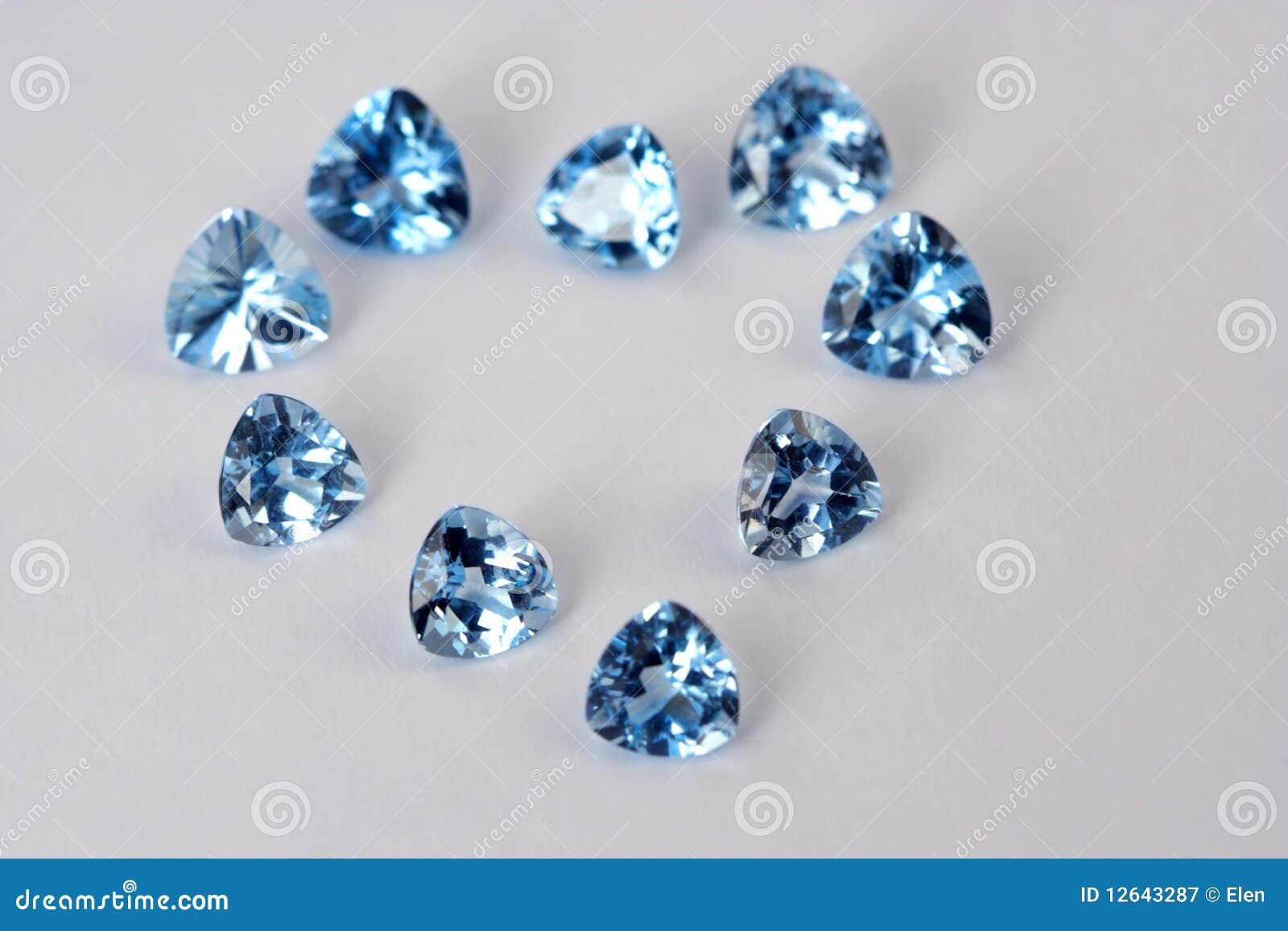 Luxury gems in view heart