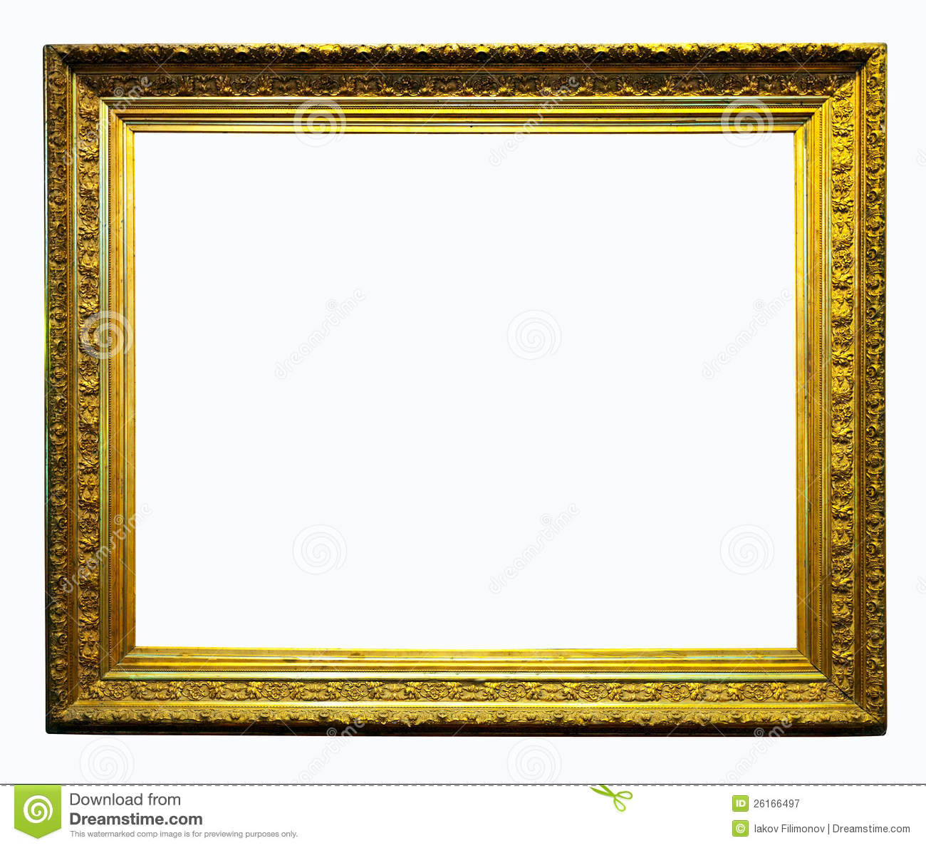 Luxury Gilded Frame. Isolated With Clipping Path Stock Image - Image ...