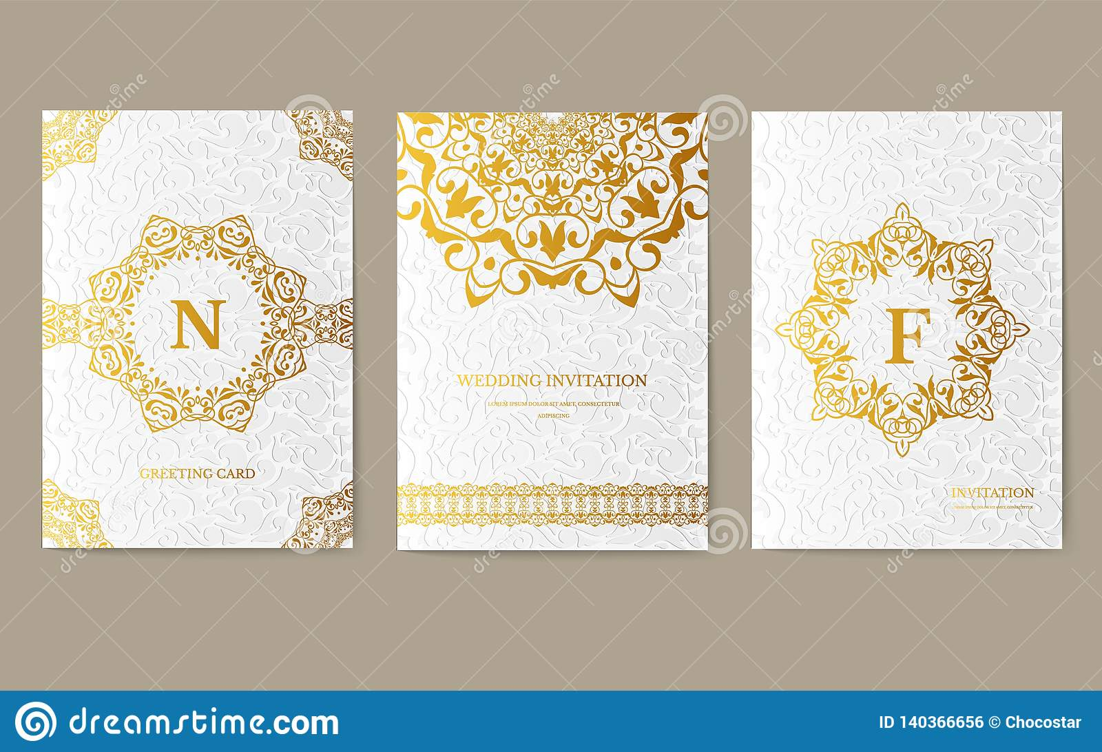 Luxury Gold Artistic Flyer 3x4 With Unique Decoration