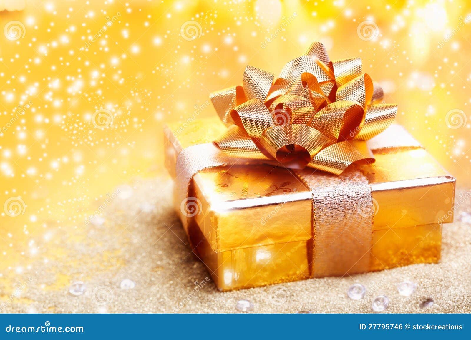 Luxury Golden Gift Royalty Free Stock Image Image 27795746