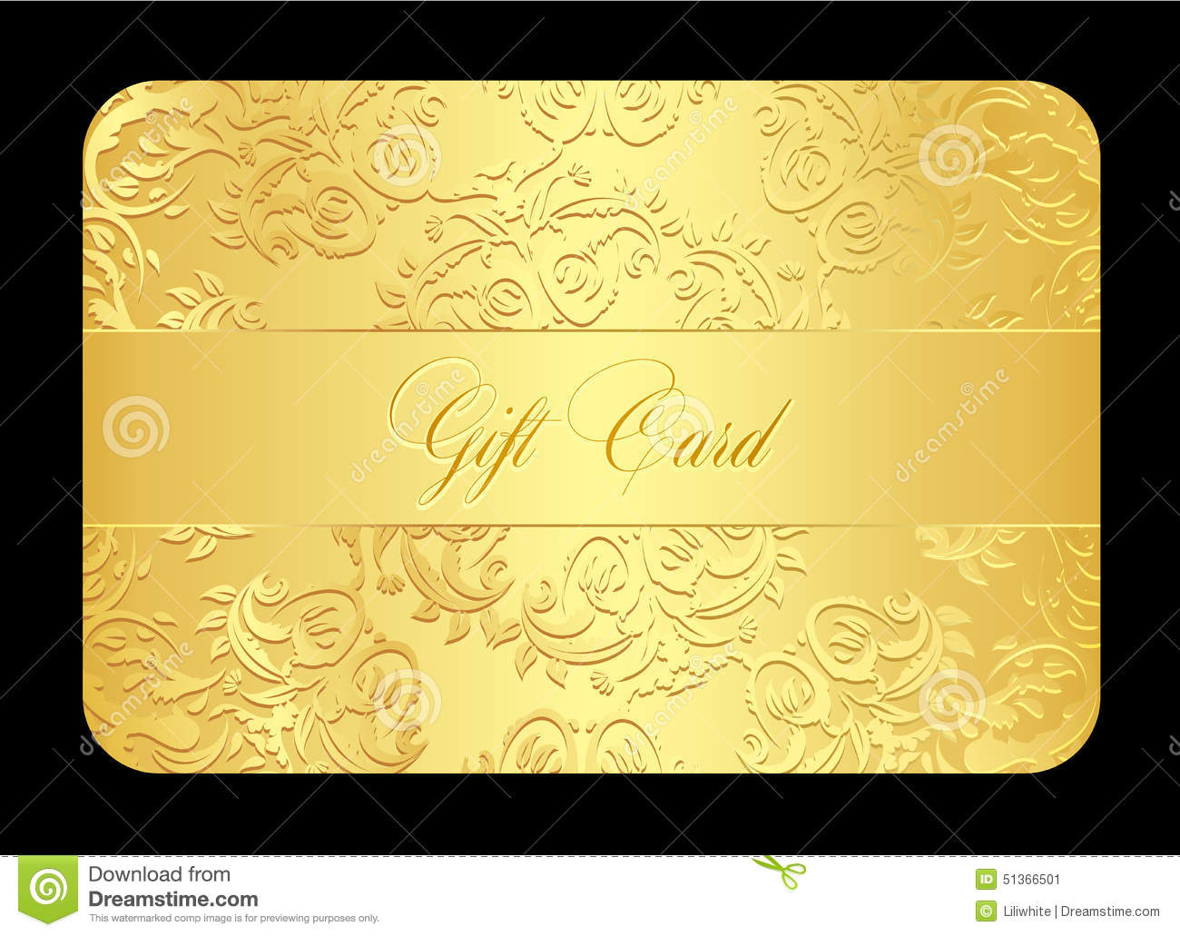 Luxury Golden Gift Card With Rounded Lace Stock Vector ...