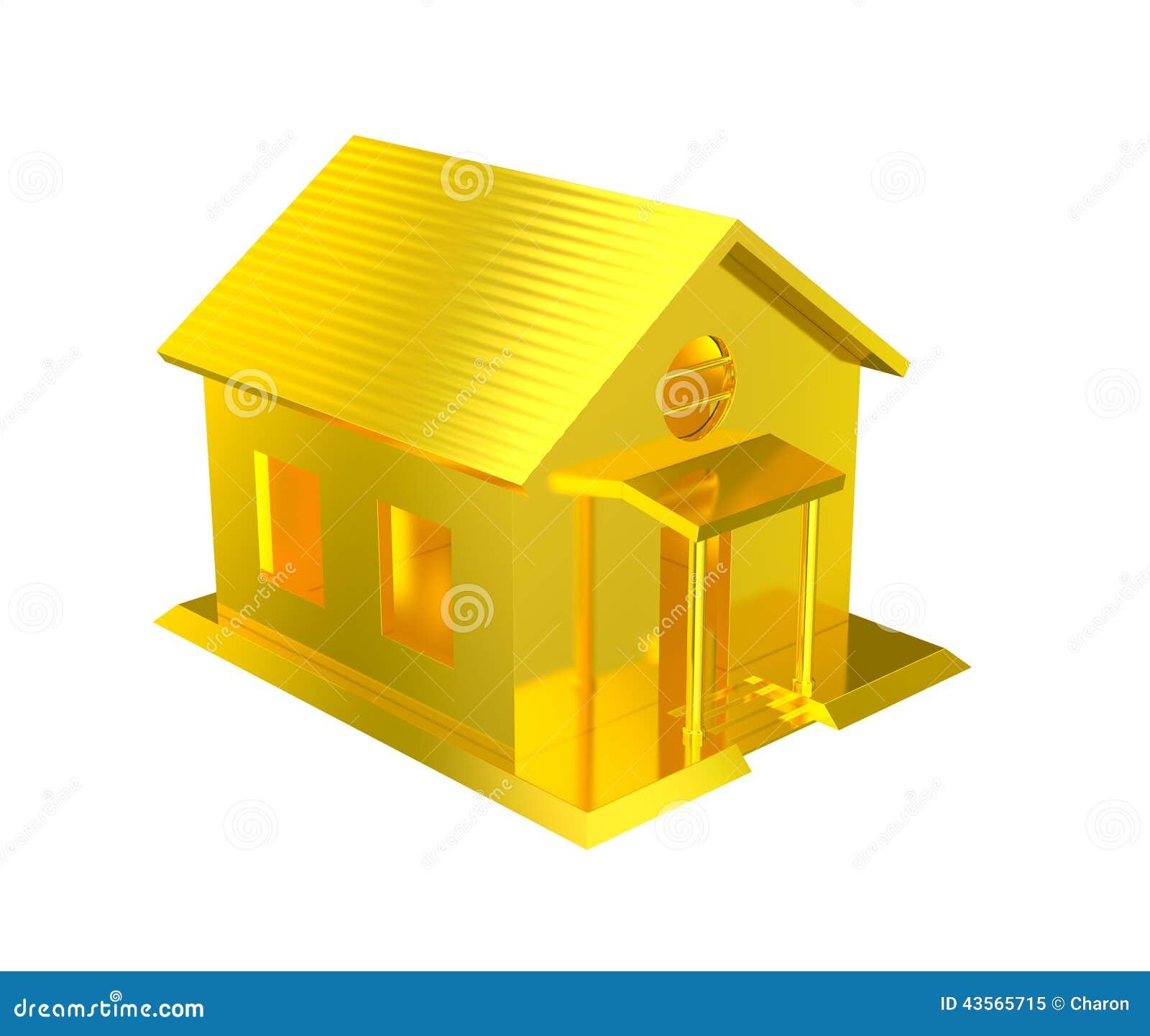 Luxury Golden House Isolated Stock Illustration   Illustration Of Capital,  Fortune: 43565715