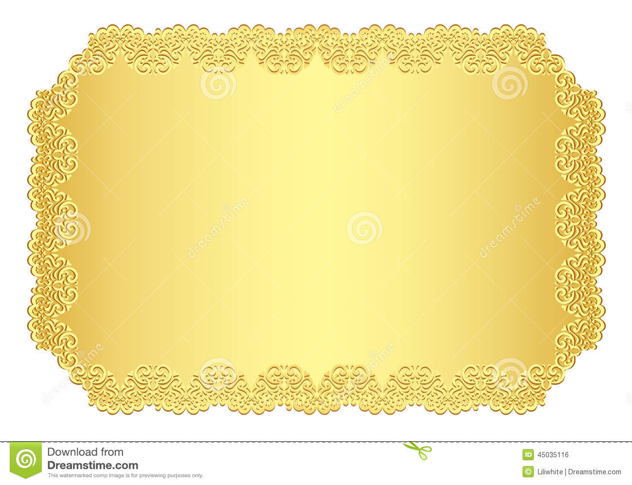 Luxury golden invitation with lace border stock vector for Exclusive bordering