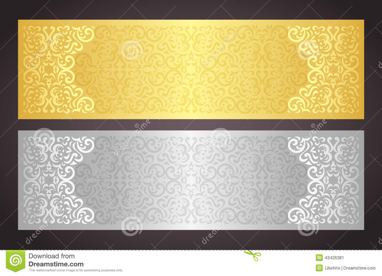 Luxury Golden And Silver Gift Certificate In Vinta Stock ...