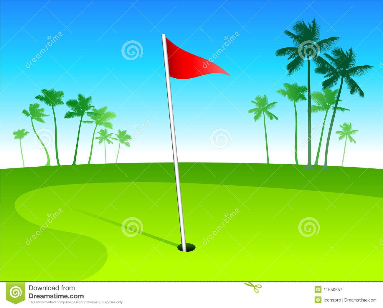 luxury golf course with palm trees on blue sky bac stock vector rh dreamstime com golf course clipart golf club clipart
