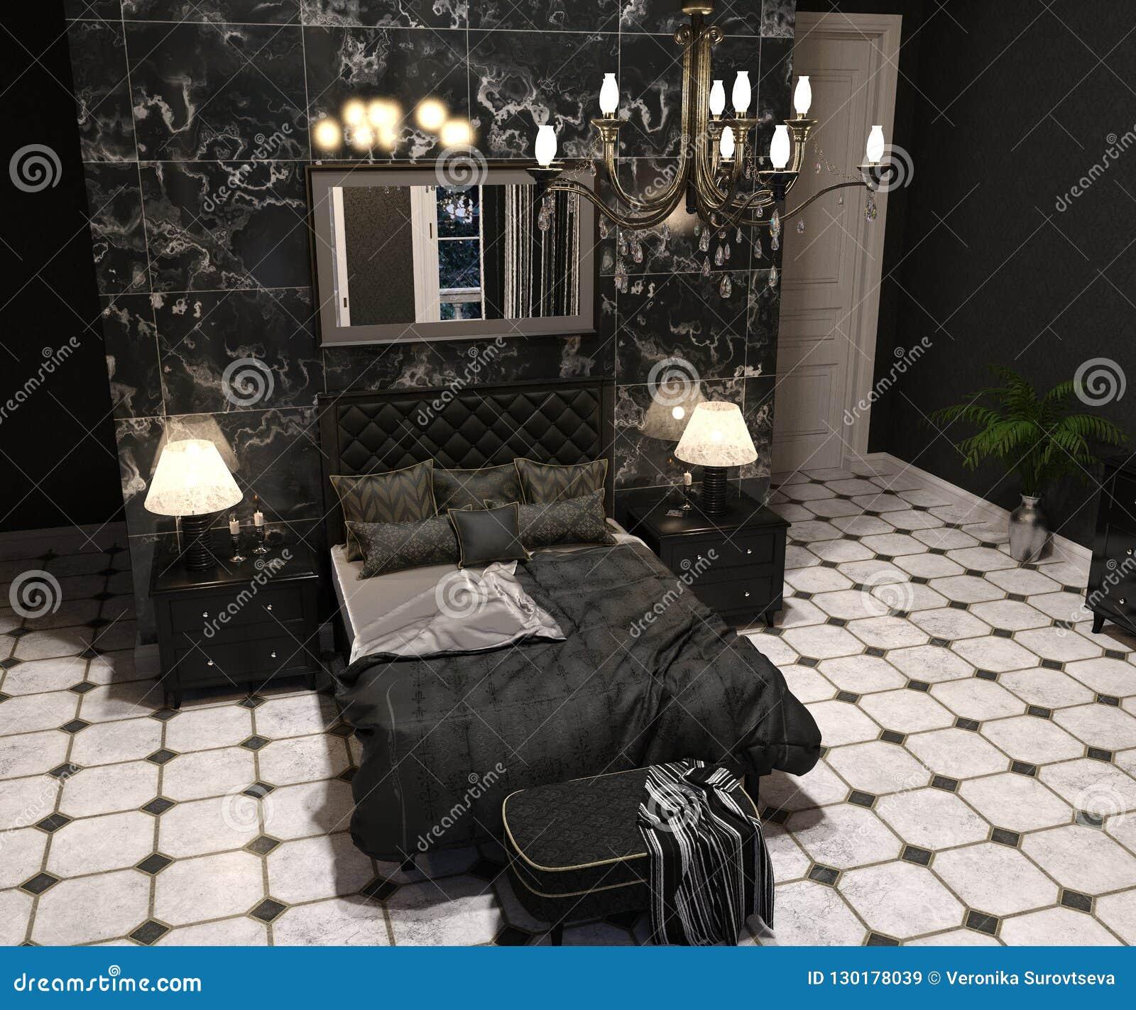 Luxury Goth Living Room Stock Image Image Of Flat Drape 130178039