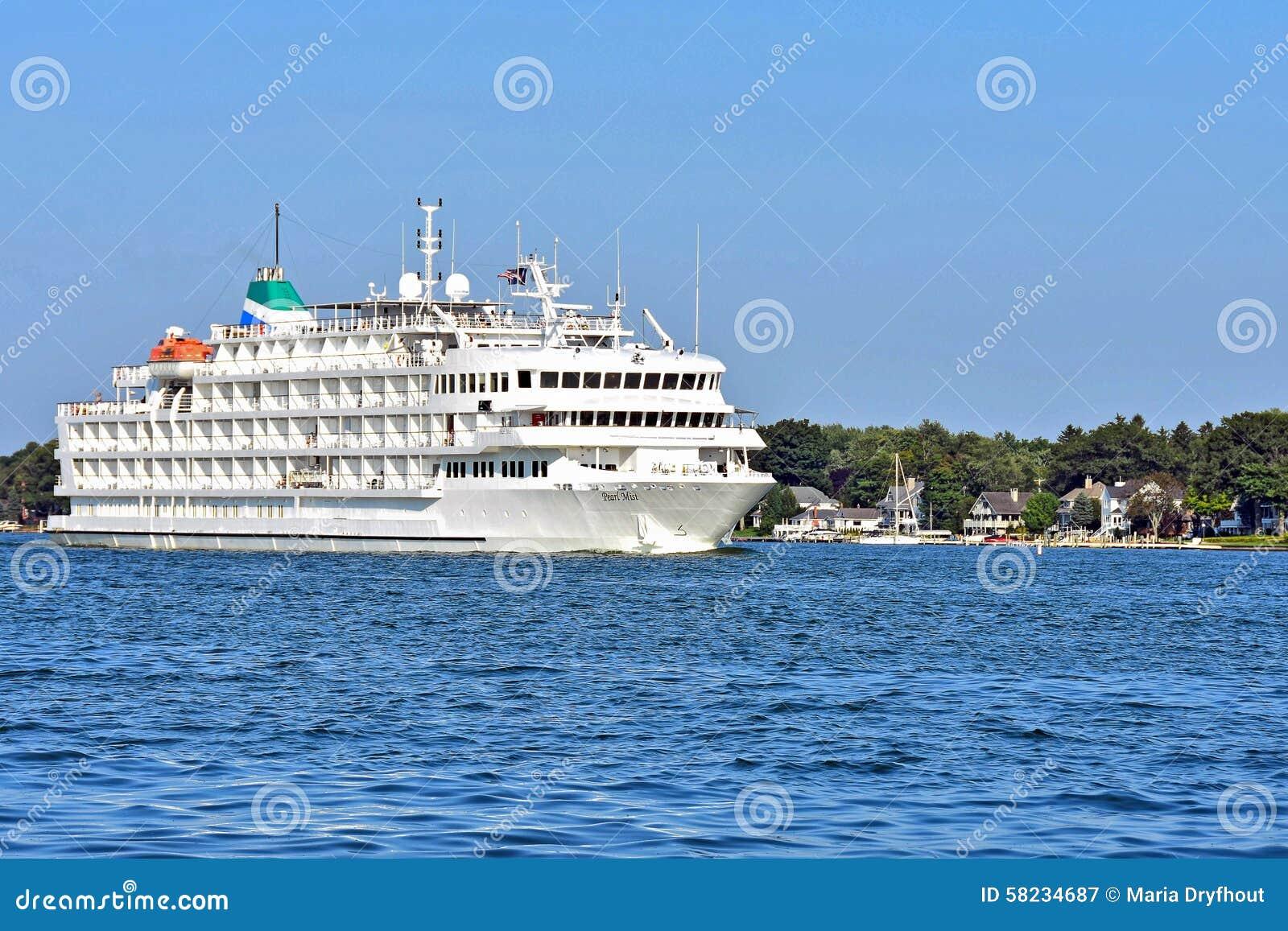 Luxury Great Lakes Cruise Ship In Michigan Editorial ...