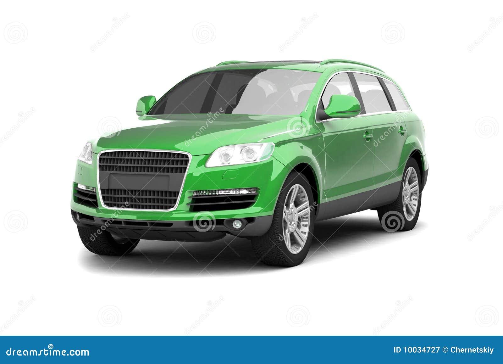 Luxury green crossover SUV stock illustration ...