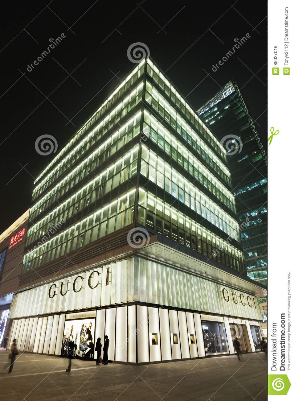 timeless design 95229 162a5 Luxury Gucci Outlet At Night, Beijing, China Editorial Photo ...