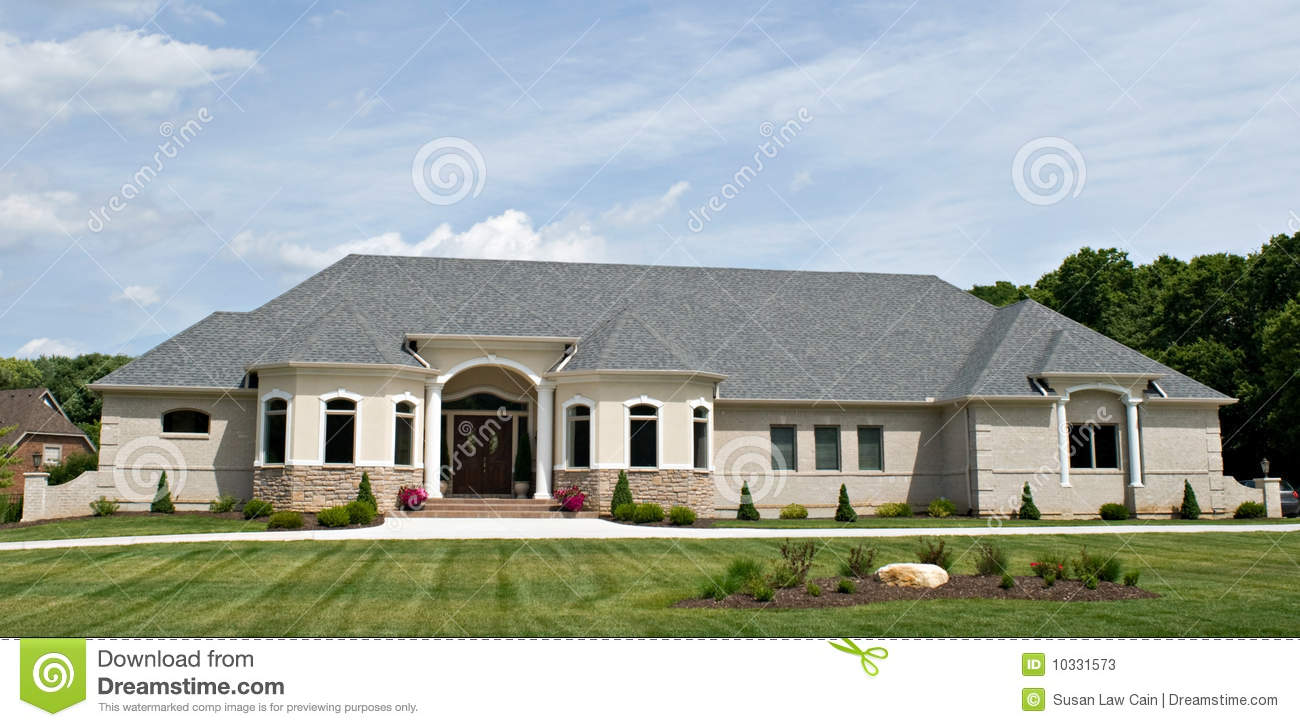 Luxury home stock photos image 10331573 for Large ranch style homes