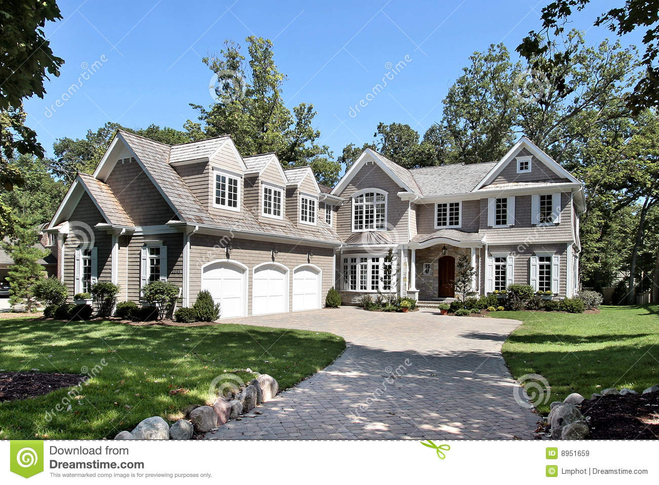 luxury home stock image image of yard luxury lawn