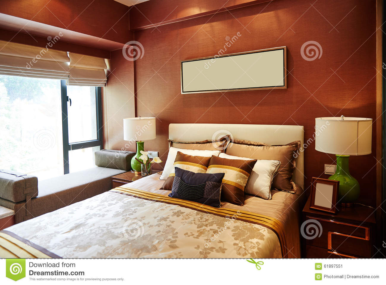Luxury Home Bedroom Furniture Decoration Stock Photo Image 61897551