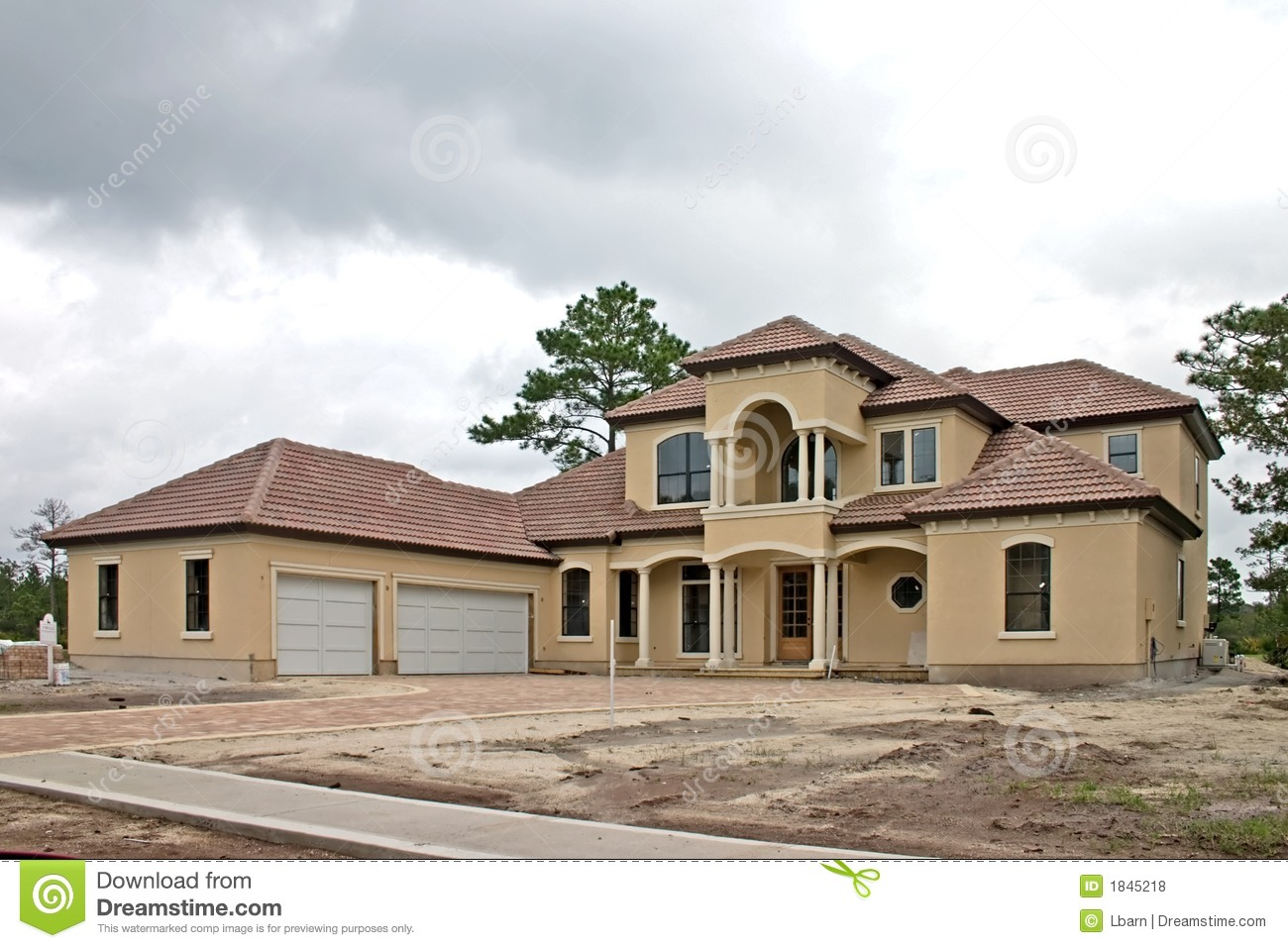 Luxury Home Construction 1 Royalty Free Stock Photos