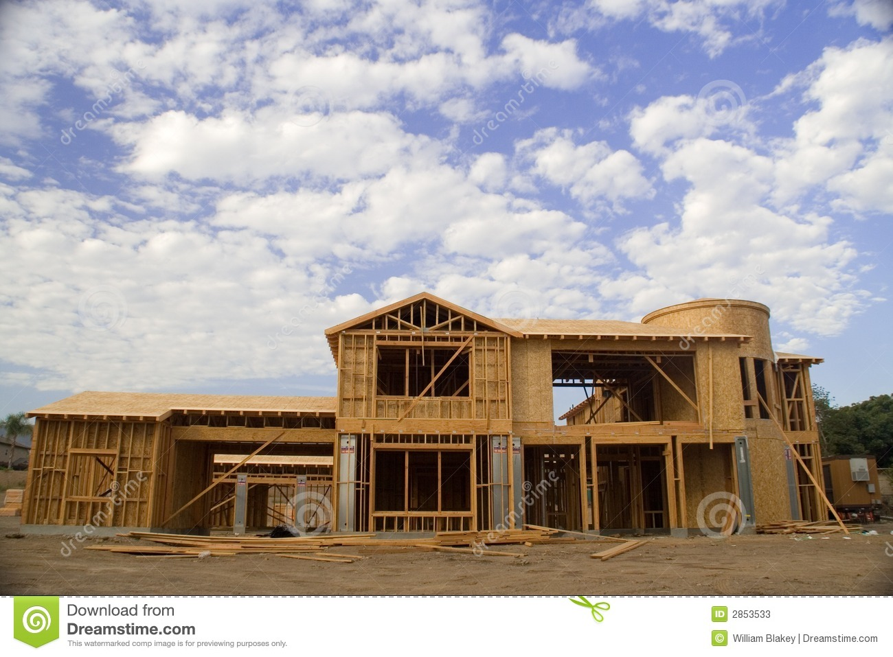 Luxury home construction stock photos image 2853533 for Fine home builder