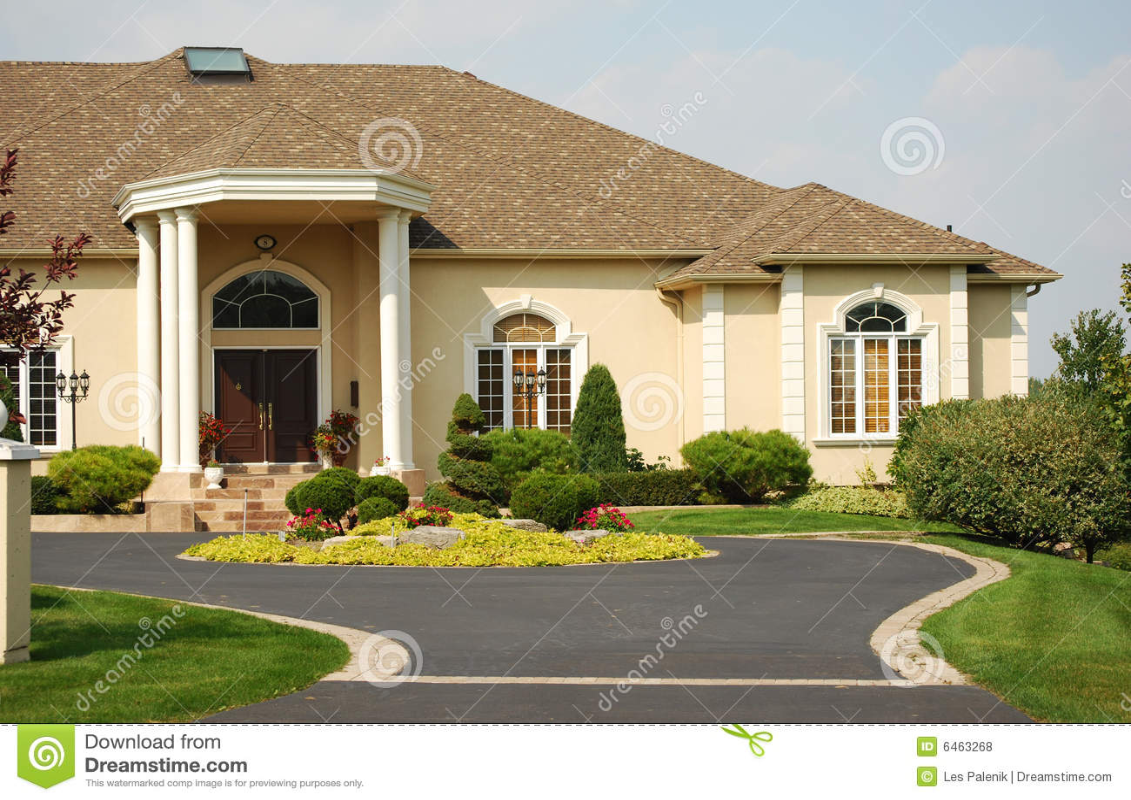 Luxury home entrance royalty free stock photos image 6463268