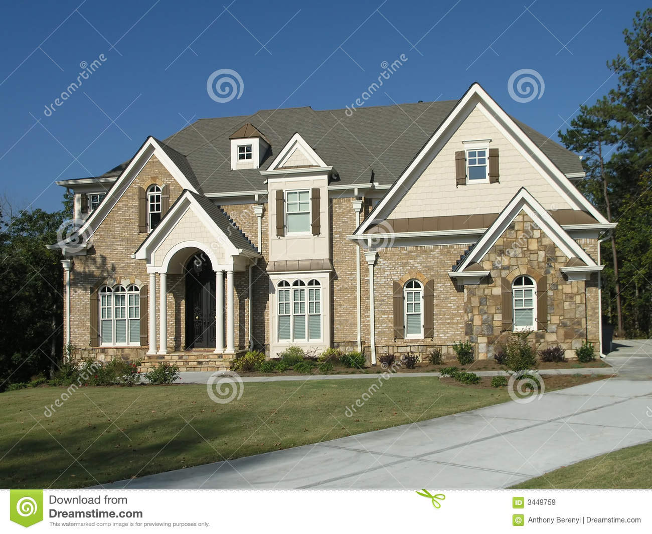 luxury home exterior 08 royalty free stock images image - Luxury Homes Exterior Brick