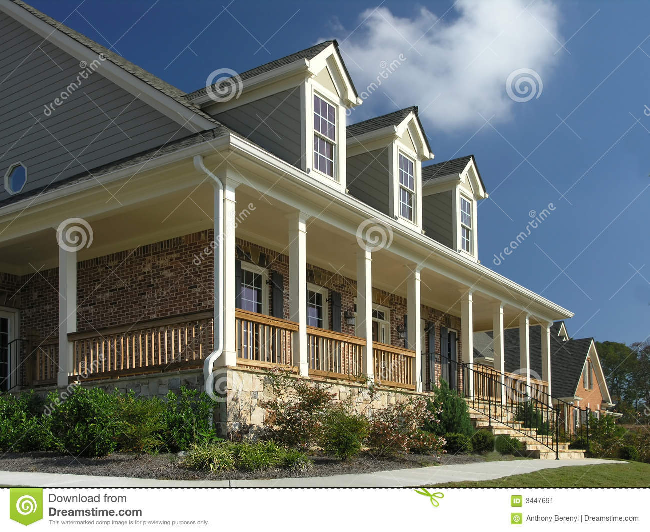 Luxury home exterior 18 stock image image 3447691 for Luxury home exterior
