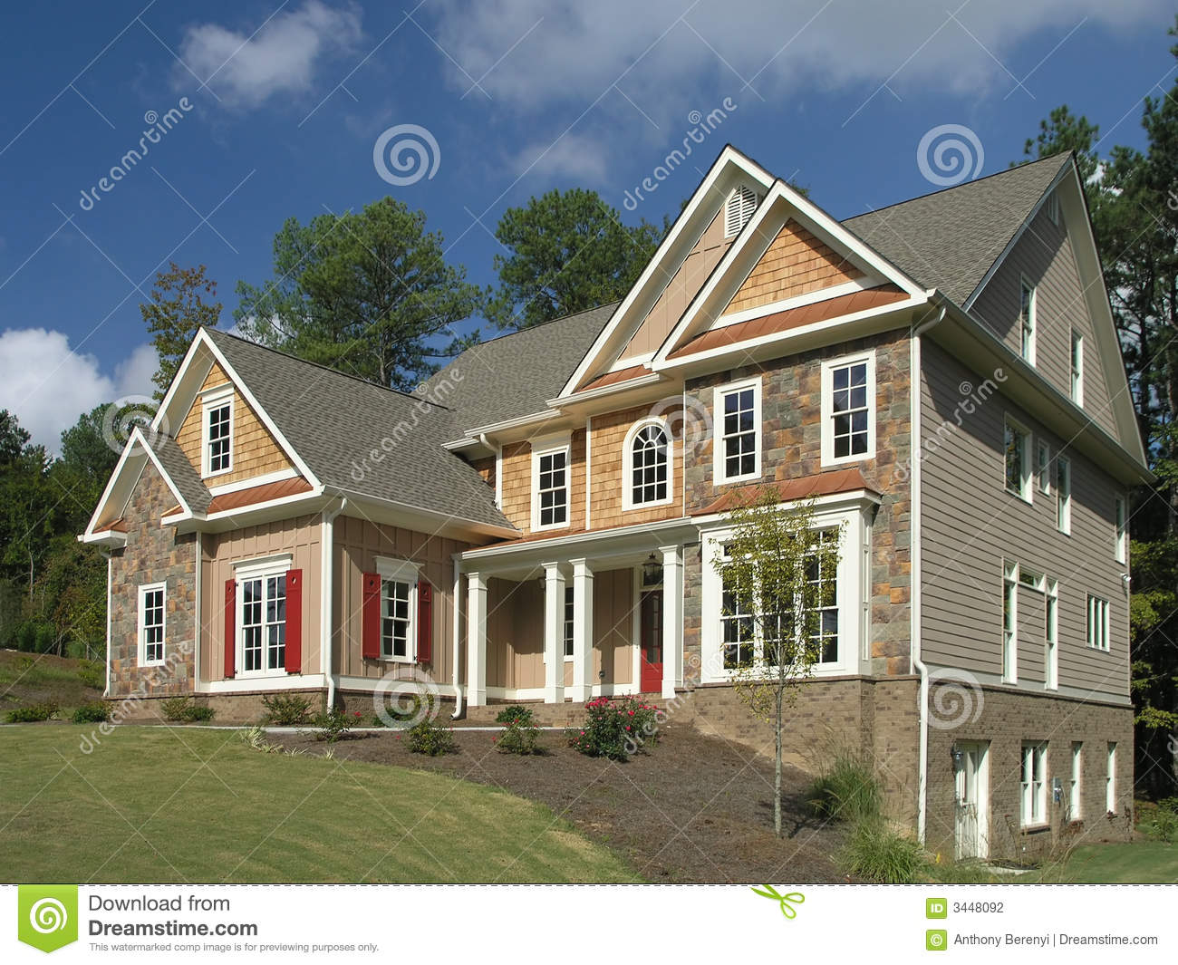 Luxury Home Exterior 31 Stock Photography Image 3448092