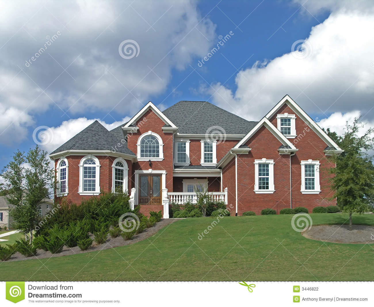 Luxury home exterior 37 stock photography image 3446822 for Luxury home exterior