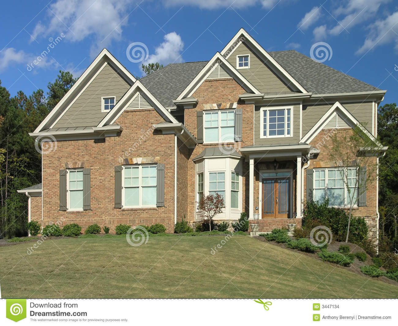 Luxury Home Exterior 47 Stock Images Image 3447134