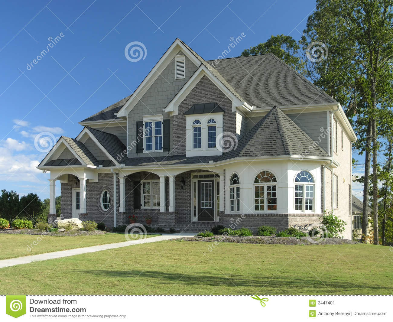 Home exterior with classic northwest charm royalty free for Luxury home exteriors