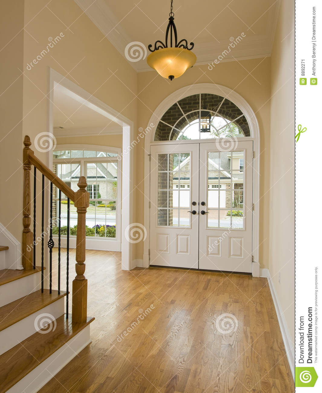 Luxury Home Foyer : Luxury home foyer and staircase stock image of