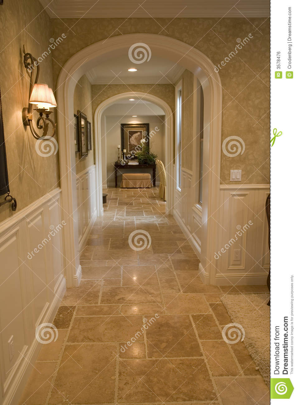Luxury Home Hallway Stock Photo Image Of Real Estate