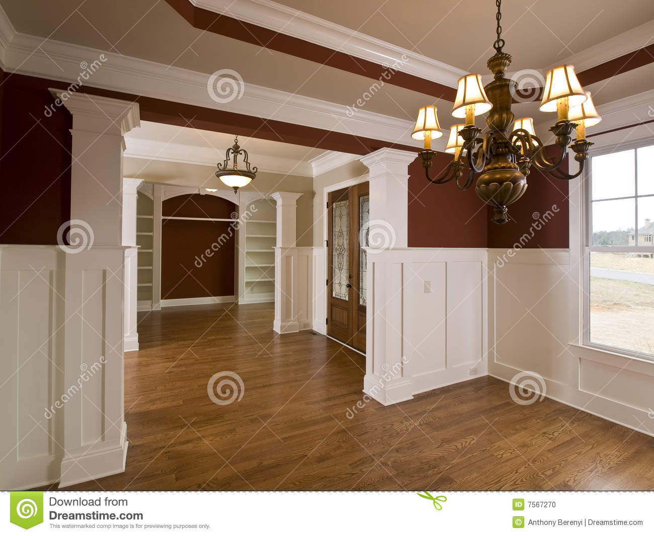 Foyer Interior Zoo : Luxury home interior foyer with lights stock photo image