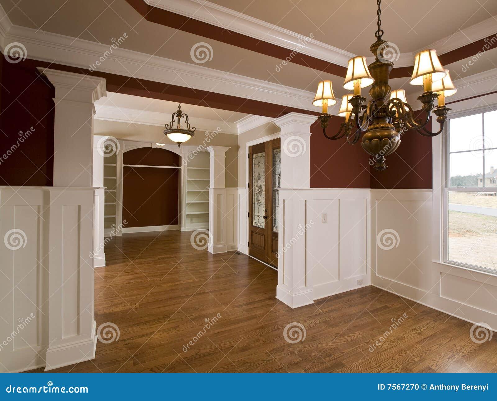 Luxury home interior foyer with lights stock photo image - Luxury foyer interior design ...