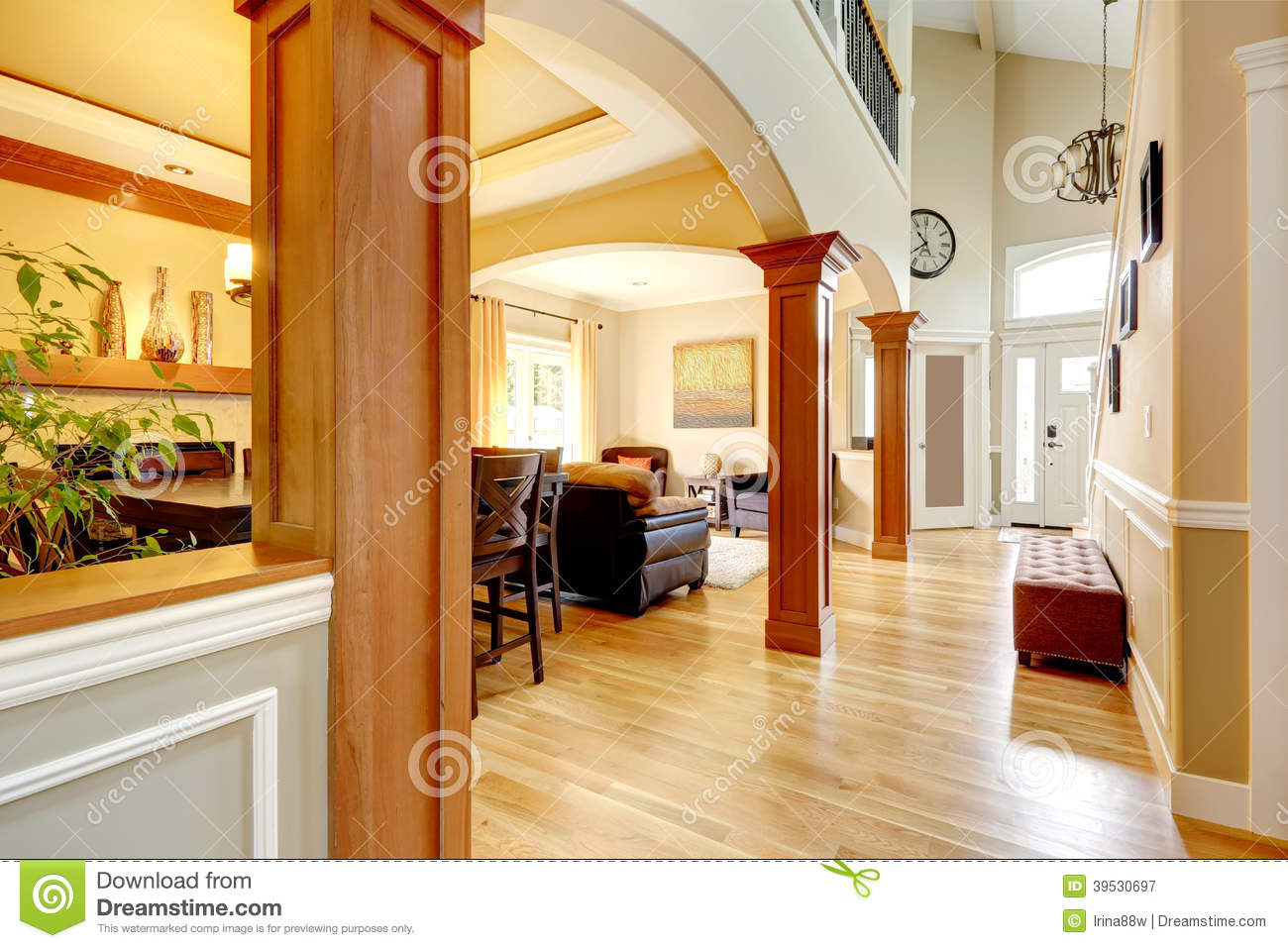 Luxury Home Interior. Stock Photo