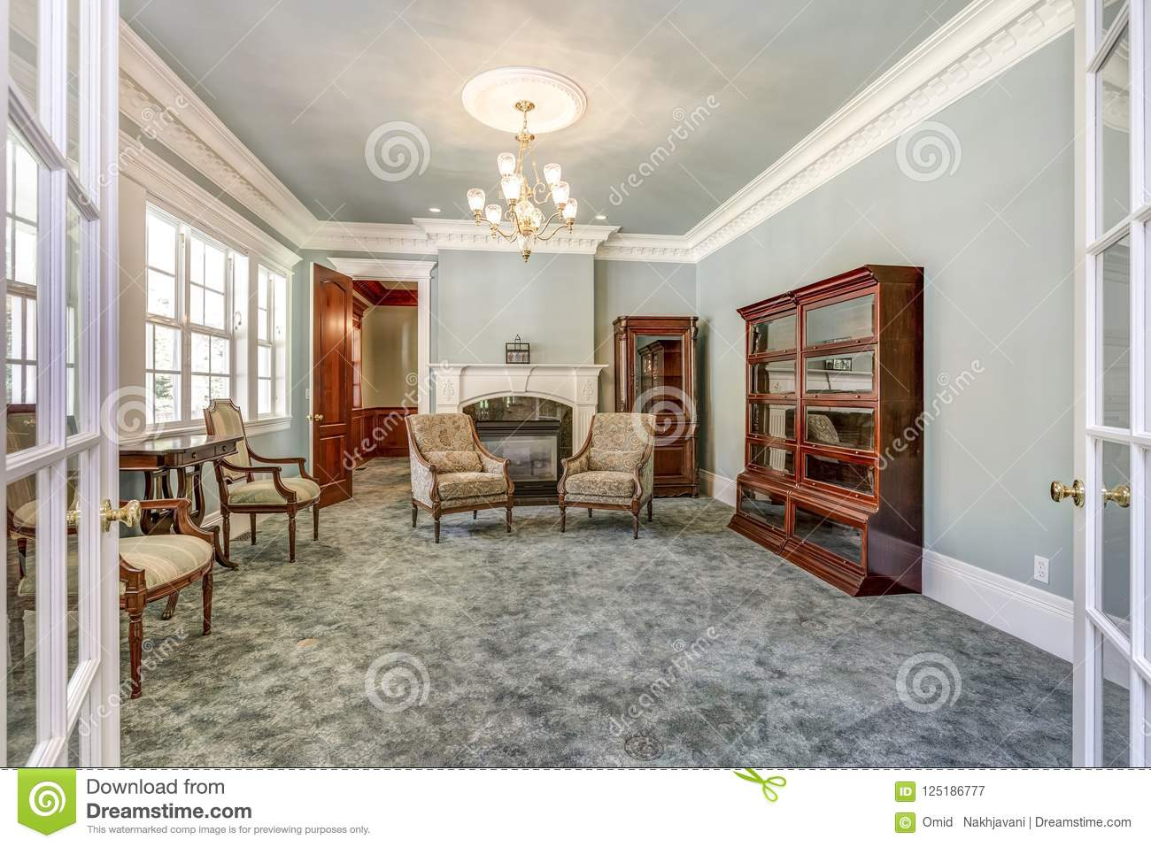 Luxury Home Interior With Vintage Furniture Stock Image Image Of Indoor Bright 125186777