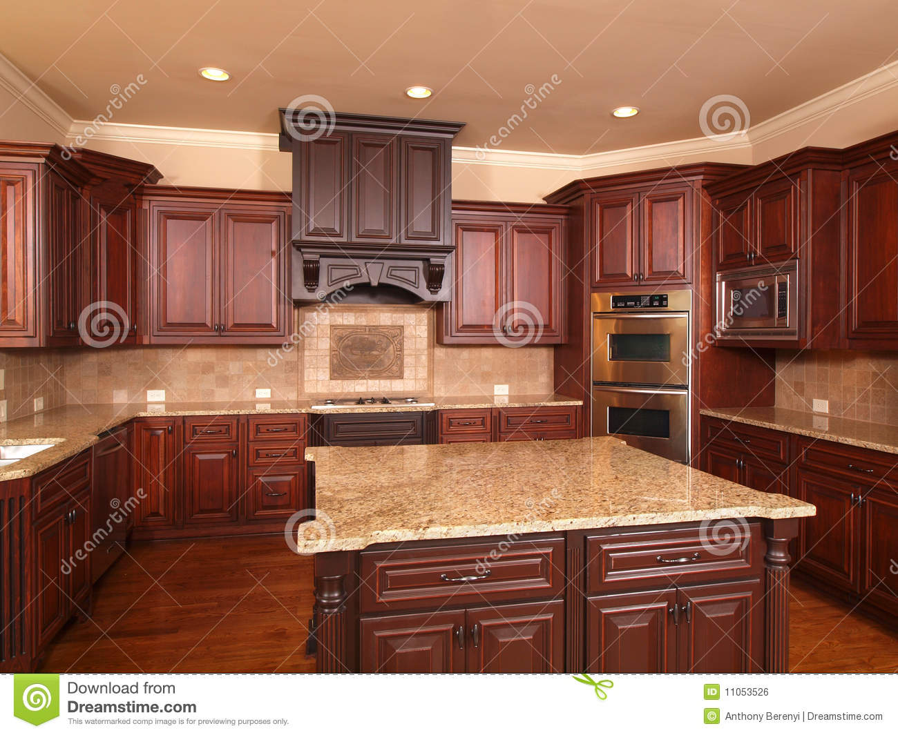 Center Island Kitchen Home Kitchen With Center Island Stock Photos Image 9914483