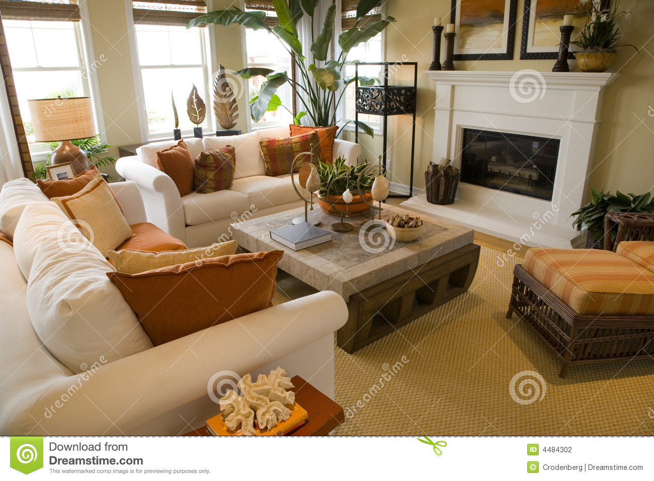Luxury Home Living Room Stock Photography Image 4484302