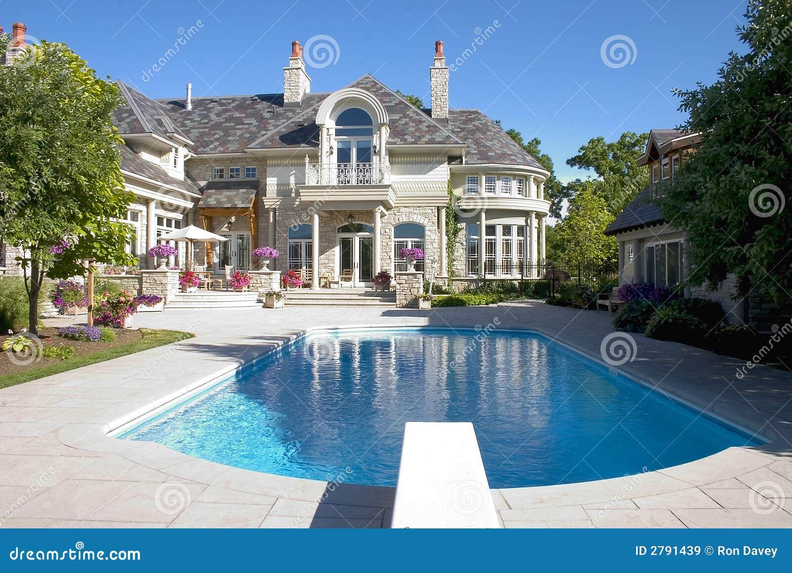 Luxury home pool shot royalty free stock images image for Free luxury home images