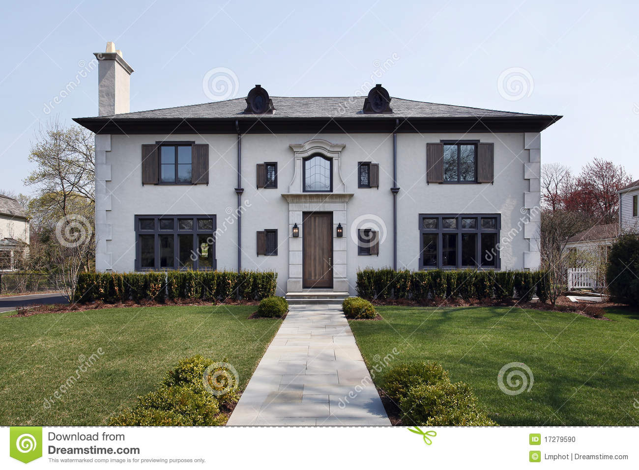 Luxury home with roof windows stock photo image 17279590 for Luxury home windows