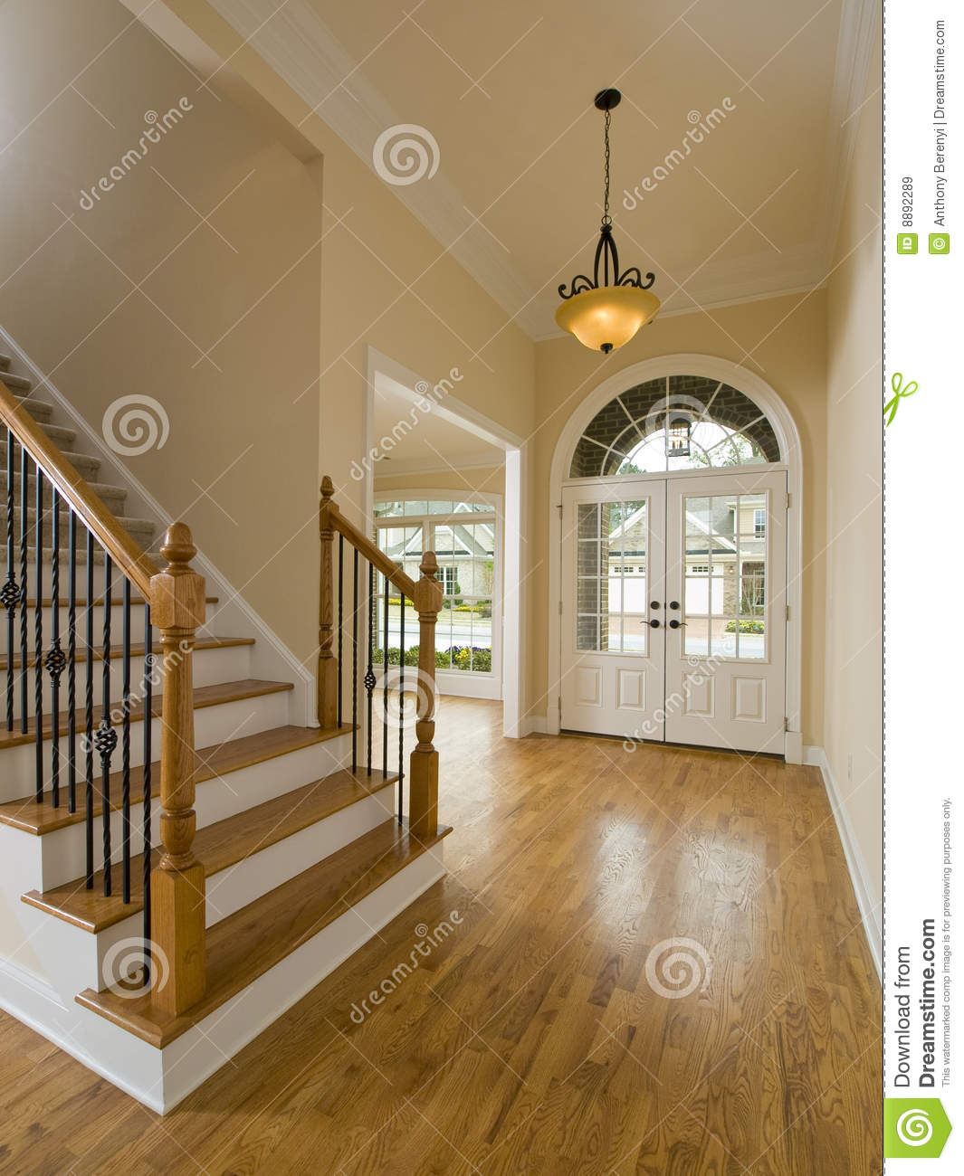 Custom Home Plans And Prices Luxury Home Staircase And Foyer Stock Image Image 8892289