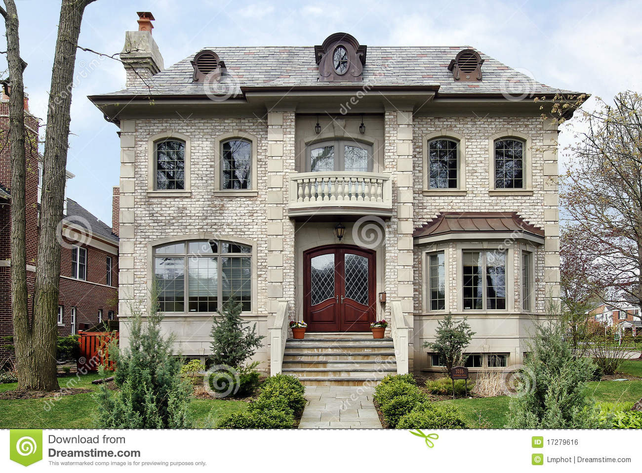 Luxury home with step up entry stock photo image 17279616 for Free luxury home images