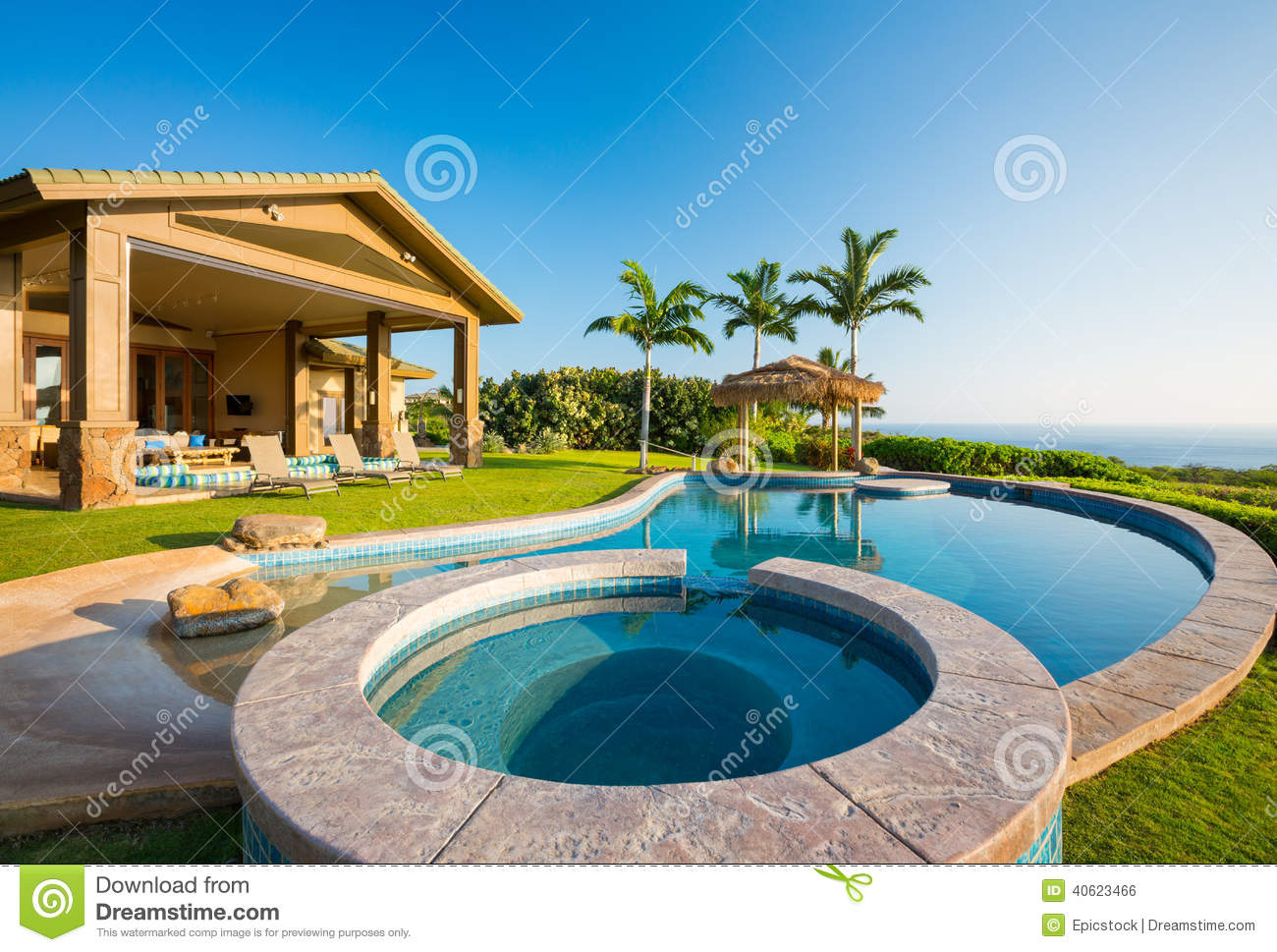 Luxury home with swimming pool stock photo image of for Pool time pools