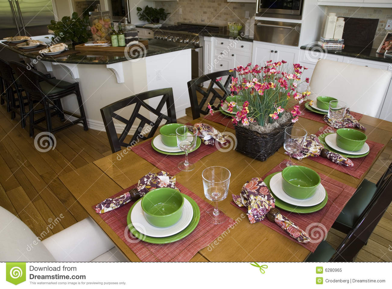 Luxury home table and kitchen royalty free stock photo for Luxury kitchen table