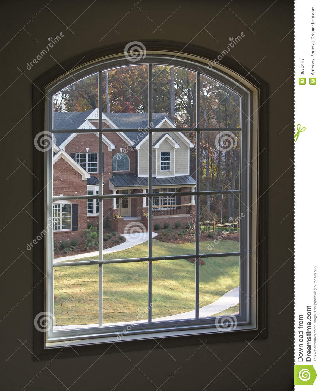 Luxury Home Thru Window 1 Royalty Free Stock Photography
