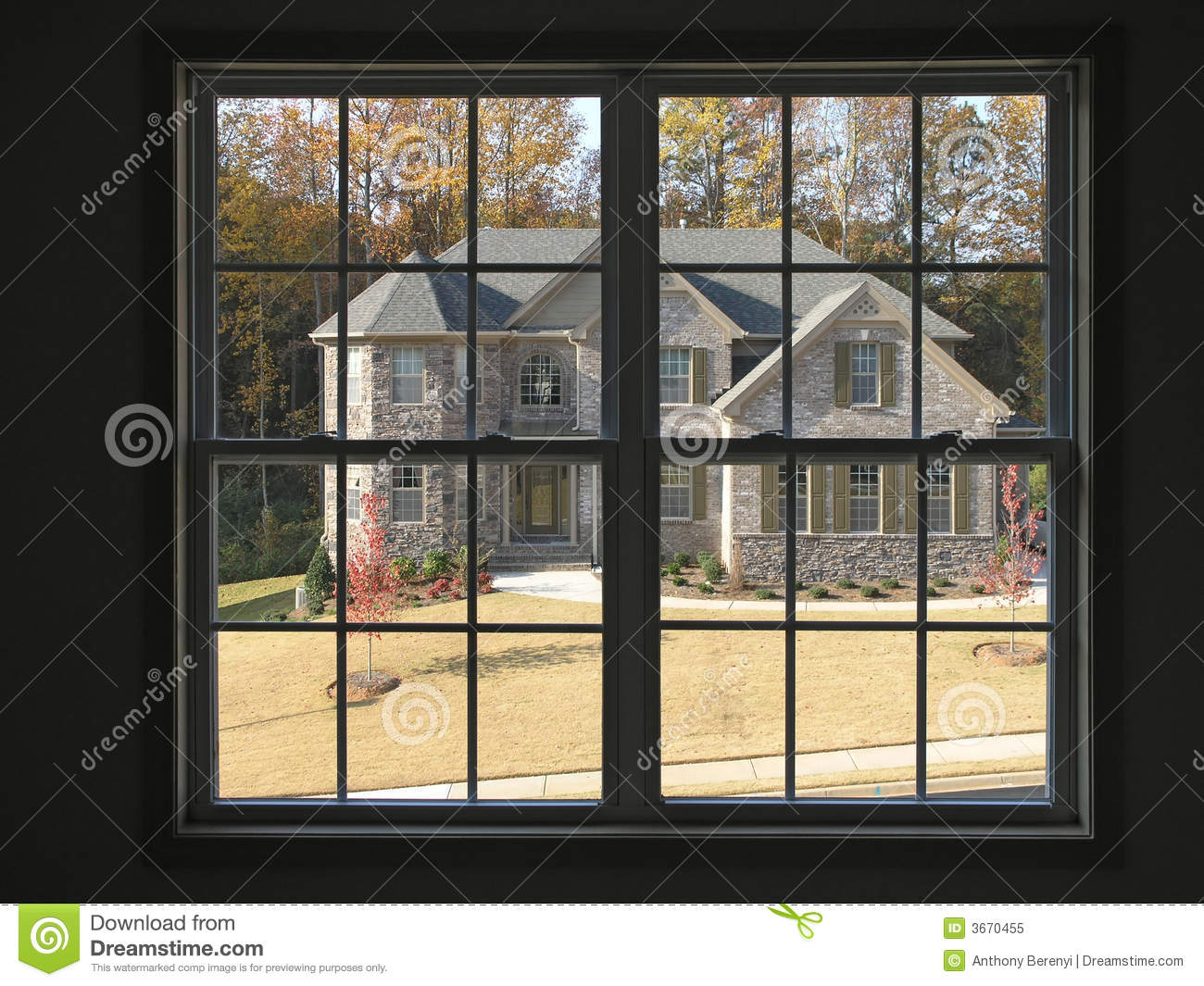 Luxury home thru window 2 royalty free stock photo image for Luxury home windows