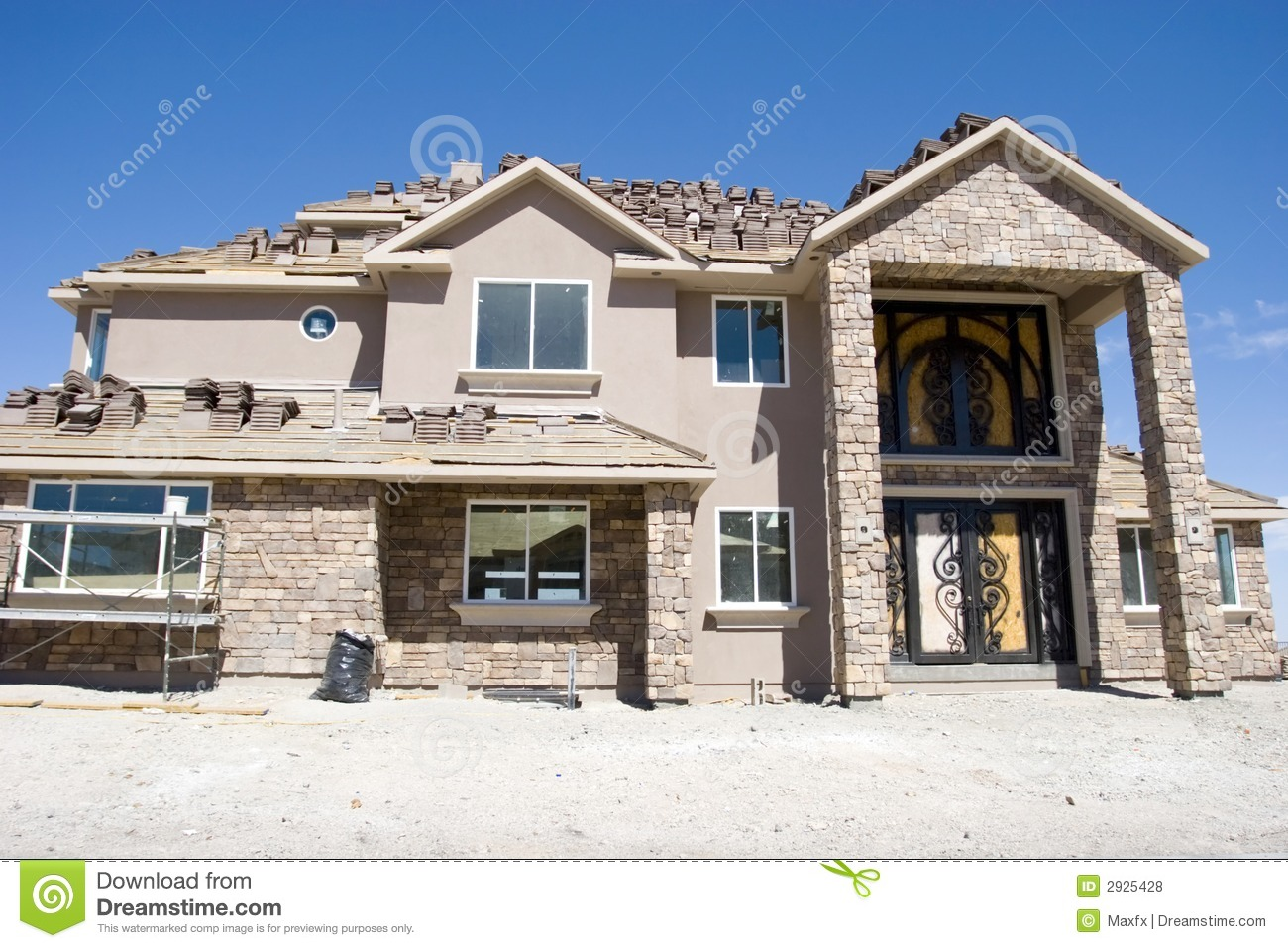 Luxury home under construction stock photo image 2925428 for Free home builder