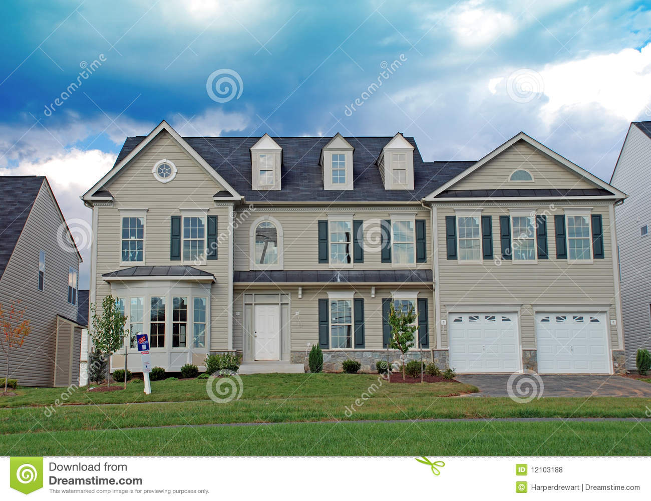 Luxury home under construction 5 royalty free stock photo for Free luxury home images